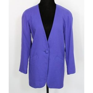 Vintage Oversized Purple Blazer
